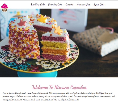 cake website by sura karnawi